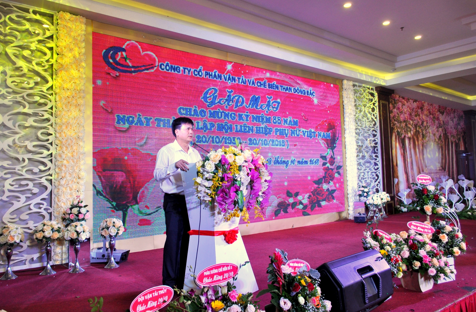 Hội phụ nữ cơ sở Công ty cổ phần Vận tải và Chế biến than Đông Bắc tổ chức Gặp mặt kỷ niêm 88 năm Ngày thành lập Hội LHPN Việt Nam