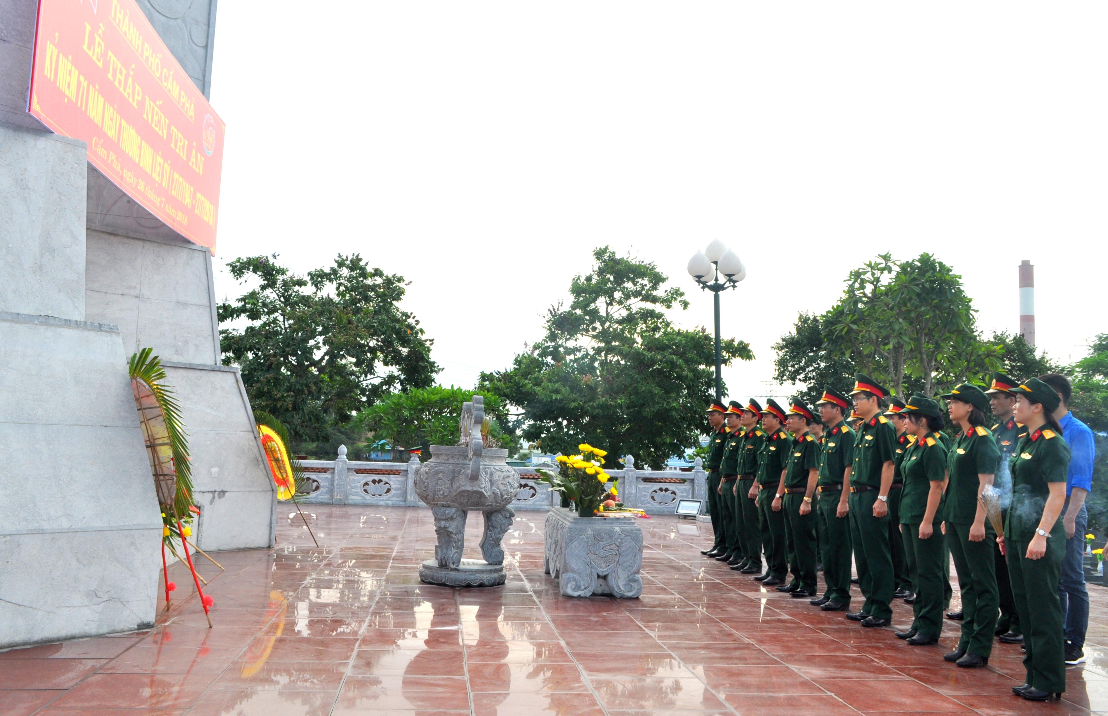 Công ty cổ phần Vận tải và Chế biến than Đông Bắc tổ chức nhiều hoạt động Kỷ niệm 71 năm Ngày Thương binh - Liệt sĩ (27/7/1947 - 27/7/2018)